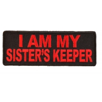 I Am My Sister's Keeper Patch In Red | US Military Veteran Patches