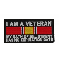 I Am A Veteran National Defense Ribbon Patch | US Military Veteran Patches