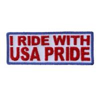 I Ride With USA Pride Patch