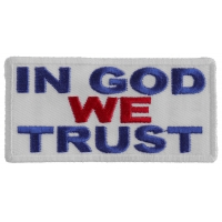 In God We Trust Patch -Red White Blue | Embroidered Patches