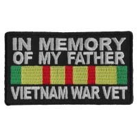 In Memory Of My Father Vietnam War Vet Patch | US Military Vietnam Veteran Patches