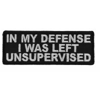 In My Defense I Was Left Unsupervised Patch