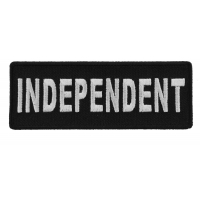 Independent  Black White 4 Inch Patch