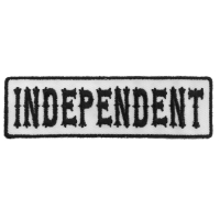 Independent Patch Black On White