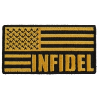 Infidel American Flag Black Yellow Patch | US Military Veteran Patches