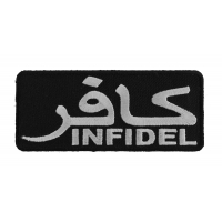 Infidel Patch White With Arabic