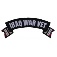 Iraq War Vet Ribbon Small Rocker | US Military Veteran Patches