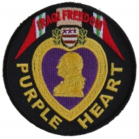 Iraqi Freedom Purple Heart Patch | US Military Veteran Patches