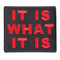 It Is What It Is Patch In Red | Embroidered Patches
