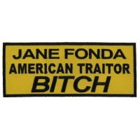 Jane Fonda American Traitor Bitch Patch | US Military Veteran Patches