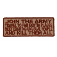 Join The Army Meet Exotic People Patch | US Army Military Veteran Patches