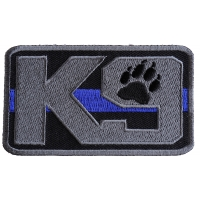 K-9 Thin Blue Line Patch For Law Enforcement | Embroidered Patches