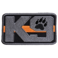 K-9 Thin Orange Line Search And Rescue Patch | Embroidered Patches