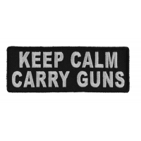 Keep Calm Carry Guns Patch | Embroidered Patches
