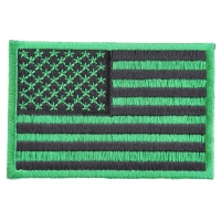 Kelly Green American Flag Patch