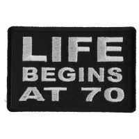 Life Begins at 70 Patch