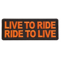 Live To Ride Ride to Live Orange Patch