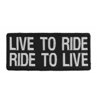 Live To Ride Ride To Live Biker Saying Patch | Embroidered Patches