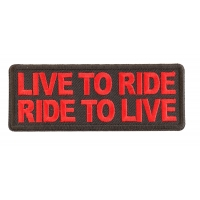 Live To Ride Ride To Live Red Patch