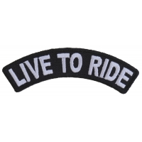 Live To Ride Small White Rocker Patch | Embroidered Patches