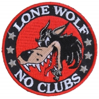 Lone Wolf No Clubs Patch | Embroidered Patches
