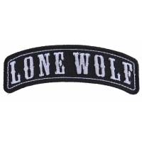 Lone Wolf Rocker Small Patch | Embroidered Patches