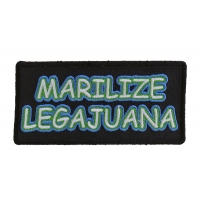 Marilize Legajuana Funny Pot Smokers Patch | Embroidered Pot Patches