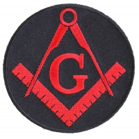 Mason Symbol Patch In Red