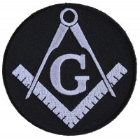 Mason Symbol Black White Patch | Embroidered Patches