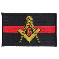 Masonic Thin Red Line For Firefighters Patch | Embroidered Patches