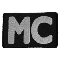 MC Patch - Black White  | Embroidered Biker Patches