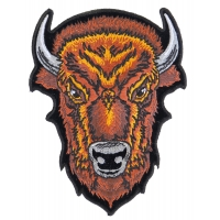 Medium Brown Buffalo Head Patch | Embroidered Patches