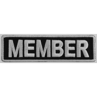 Member Patch 3.5 Inch White