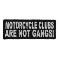 Motorcycle Clubs Are Not Gangs Biker Patch | Embroidered Patches