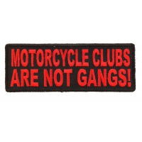 Motorcycle Clubs Are Not Gangs Patch In Red | Embroidered Patches