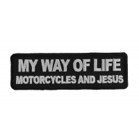 My Way Of Life Motorcycles And Jesus Patch | Embroidered Patches