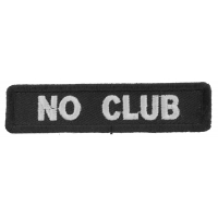 No Club Patch