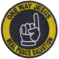 One Way Jesus Real Salvation Round Patch | Embroidered Patches