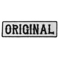 Original Patch Black On White