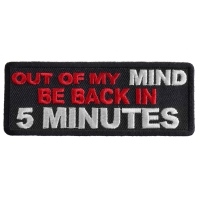 Out Of My Mind Back In 5 Patch | Embroidered Patches