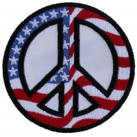 Peace US Flag Patch | Embroidered Patches