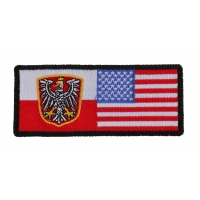 Polish American Flag | Embroidered Patches