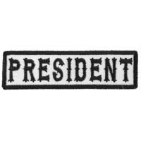 President Patch Black On White