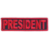 President Patch Red