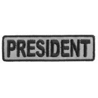 President Patch 3.5 Inch Reflective | Embroidered Patches