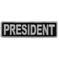 President Patch 3.5 Inch White