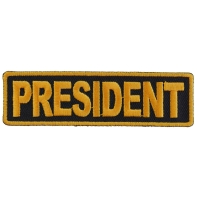 President Patch 3.5 Inch Yellow