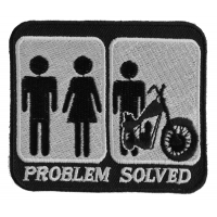 Problem Solved Marriage And Motorcycle Patch | Embroidered Biker Patches