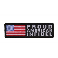 Proud American Infidel Patch With US FLAG