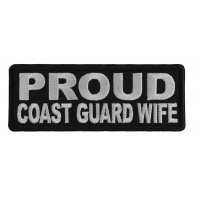 Proud Coast Guard Wife Patch